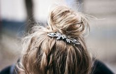 Top knot with jewellry