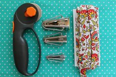 How to Make your own Bias tape - Materials include a rotary cutter, bias tape makers of various sizes and fabric