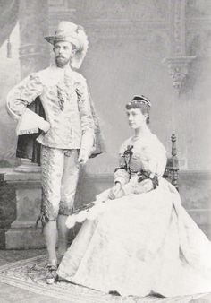 Gustav and Victoria of Sweden in costume.