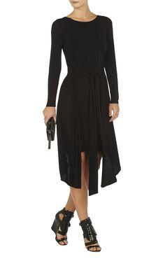 V back cocktail dress jennifer Latest Fashion Dresses, Belt Tying, Dress Backs, Boat Neck, Hemline, Dresses For Work, Long Sleeve, Sleeves, Clothes