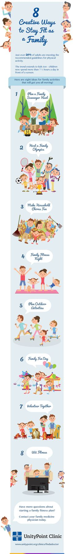 tips to stay health as a family infographic