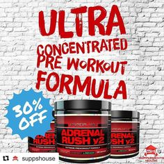 @primevallabs is back with Adrenal Rush V2...the ultra concentrated version of the original Adrenal Rush. This is their number 1 extreme pre-workout formula for a reason it works. With it's cutting edge ingredients this pre-workout supplement promises results after just the first scoop.  Get it at suppshouse.com.au  #fitfam #fitspo #fitness #supplements #treadmill #nutrition #workout #shredded #getfit #weights #muscle #bodybuilding #fitspiration #cardio #ripped #gym #crossfit #training…