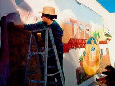 custom murals mexican landscape by Golondrina Fine art