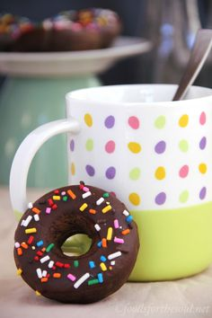 Baked Chocolate Sprinkle Donuts -- healthy & baked, not fried so you can have more! They practically taste like chocolate cake for breakfast!