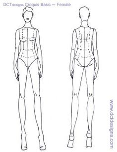 fashion croquis female templates - Google-søk