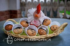 Segnaposto personalizzati per Pasqua on http://cosefatteincasa.it