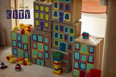 The Big City… good addition to the block corner/imaginative play space Block Center Preschool, Dramatic Play Area, Block Area, Block Play, Transportation Theme, Small World Play, Creative Curriculum, Play Based Learning, Play Centre