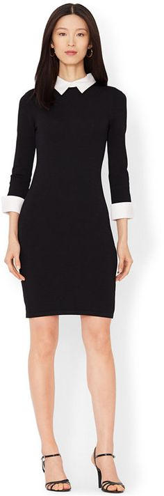 Lauren Ralph Lauren Three-Quarter-Sleeve Collared Sweater Dress // This Wife Wouldn't Be Caught Dead Wearing Mom Jeans