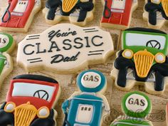 Father's Day Cookies- Vintage Gas Pumps Tutorial - Semi Sweet Designs