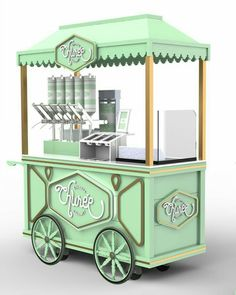A vez do churro gourmet Food Stall Design, Food Cart Design, Kiosk Design, Cafe Design, Coffee Carts, Coffee Shop, Foodtrucks Ideas, Theme Carnaval, Bike Food