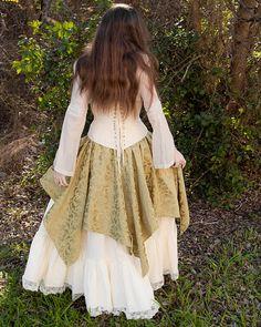 Sage Green Pixie Skirt Renaissance Costume by CrystalKittyCat, $47.00