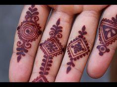 MOROCCAN INSPIRED FINGER DESIGNS by Henna CKG - YouTube Finger Henna Designs, Mehndi Designs For Fingers, Fingers Design, Henna Tattoo Designs, Tattoo Ideas, Mehndi Design Photos, Best Mehndi Designs, Henna Tattoo Hand, Henna Art
