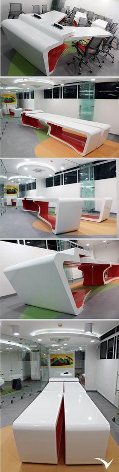 Centro de innovación financiero del fondo de empleados de la Universidad Industrial de Santander (FAVUIS) diseñado por Vircorp en conjunto con la firma de arquitectura española BUCBA en la ciudad de Bucaramanga https://www.vircorpdesign.com/oficina