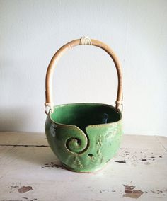 Hey, I found this really awesome Etsy listing at https://www.etsy.com/listing/117021605/yarn-bowl-knitting-bowl-with-handle