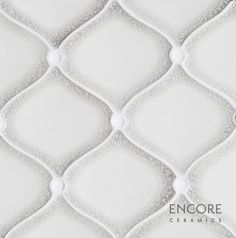 Encore Ceramics | Dimensional Miramar mosaic hand-glazed in Silver crackle, with Milk gloss buttons | Sustainably made in Oregon