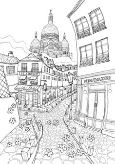 Adults Coloring Hard Corner Of The City one of the most popular coloring page in Adults category. Explore more coloring pages like Adults Coloring Hard Corner Of The City from the Coloring. Printable Adult Coloring Pages, Coloring Book Pages, Coloring Sheets, City Illustration, Copics, Doodle Art, Sketches, Drawings, Painting Art