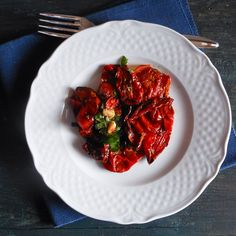 One of the best ways to use up ripe tomatoes. Oven dried tomatoes. / anitalianinmykitchen.com