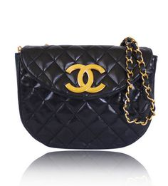 c5788f0a94066d Chanel Black Lamb Skin Big Logo Classic Rare Cross Body. Pia Loncho · Chanel  handbags outlet