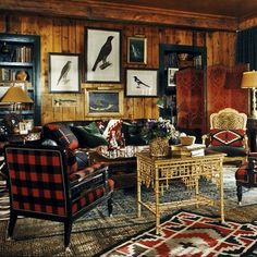 Ralph Lauren Home Indian Cove Collection Buffalo Plaid Red and Black Tribal Style