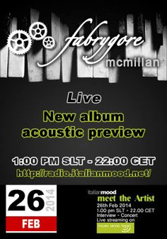 my new album acoustic preview on radio.italianmood.net