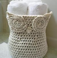 ~~Owl Basket~~  - via @Craftsy