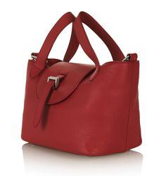 レッドレザーショルダー・ポシェット THELA MINI BAG IN RED | MELI MELO メリ・メロ | レディース - バッグ(Bag) - ショルダー | Red | 海外通販ならLASO(ラソ)
