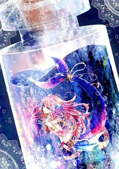 Anime || bottle | animegirl | mermaid | beautiful
