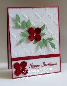 Simply Sara Stampin': Cherry Cobbler Floral Fusion