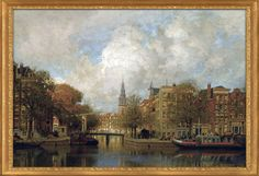 Johannes Christiaan Karel Klinkenberg DUTCH 1852 - 1924 A VIEW OF THE GROENBURGWAL WITH THE ZUIDERKERK, SEEN FROM THE RIVER AMSTEL, AMSTERDAM