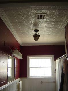 orignial tile and tin ceiling, Bathrooms Design
