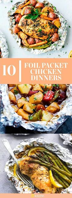 Chicken really is everything. These foil packet chicken recipes are a lazy cook's best friend. They do all the cooking for you to make dinner time a little less stressful. Simply gather your ingredients in a sheet of foil, and then pop them into the oven or on top of a grill to make simple meals a top priority.