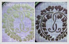boutis  「 紫色のブックカバー 」 家紋柄のブティ 完成 : ombre et lumière