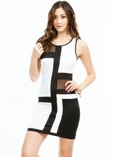 Go To Grid Lengths Mesh Inset #Dress