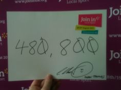 How many people does it take to create an Olympian? Iwan Thomas thought it was 480,800!