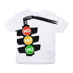Ho Ho Ho Traffic Lights Toddler All Over Print Tee
