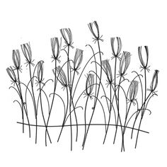 Metal Wall Art :: Flowers, Leaves & Trees :: Large Reeds Metal Wall Art Set 4 -