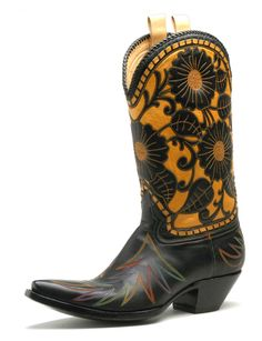 Sunflower (Mustard) - Handmade Cowboy Boots from Liberty Boot Co Custom Cowboy Boots, Cowgirl Boots, Custom Boots, Cowgirl Outfits, Cute Girl Outfits, Cowgirl Clothing, Cow Girl, Cowgirl Chic, Cowgirl Style