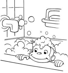 Curious George Coloring Pages Games Julia Pinterest Coloring