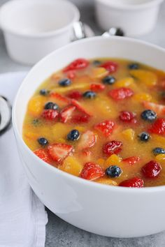 Holiday Fruit Soup | Mel's Kitchen Cafe might try as a to-go drink, idk about soup lol <3 love anyway c:
