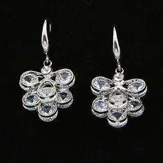TrinketSea Women Big Hollow Long Drop Dangle Earrings Silver Cubic Zirconia Jewelry Women Fashion Crystal Free Shipping Earing //Price: $US $6.59 & FREE Shipping //     #hashtag2