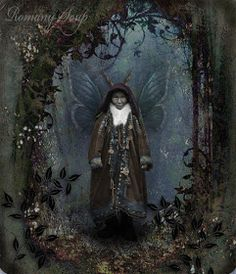 There's a story here. Little Imp. By Romany Soup. Handprint Art, Altered Images, Art World, Blessed, Greeting Cards, Soup, Art Prints, Painting, Color