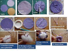 PAP bolinha de fuxico by Costuras da Doris, via Flickr