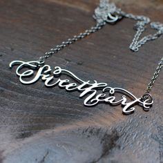 Sweetheart Nameplate Necklace