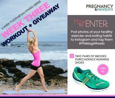 Week 3 of my 6 week postpartum fitness series with @Pregnancy & Newborn magazine