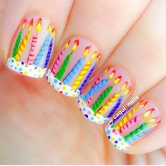 This series deals with many common and very painful conditions, which can spoil the appearance of your nails. But for you, nail technicians, this is not a problem! SPLIT NAILS What is it about ? Nails are composed of several… Continue Reading → Birthday Nail Art, Birthday Design, Birthday Cake, Creative Nail Designs, Diy Nail Designs, New Nail Art, Easy Nail Art, Glitter Nails, Fun Nails