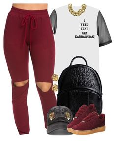 """unknown"" by nasiaswaggedout ❤ liked on Polyvore featuring River Island, Moschino, Alexander Wang, 21 Men, NIKE and ASOS"