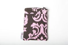 Belvah Quilted Floral Print Wallet w/ Detachable Shoulder Strap Pink/Brown