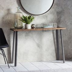 Aylmer Console Table, Brown