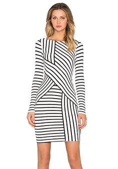 Bailey 44 Deconstruction Dress em Cream Stripe | REVOLVE
