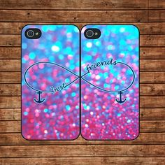 Sparkle,best friends,infinity--iphone 4 case,iphone 4s case,in plastic | kisscase - Accessories on ArtFire